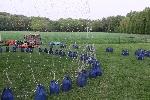 Der Netzballon beim Aufrüsten.