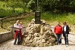Hier waren wir am Denkmal des Pioniers der Lüfte Otto Lilienthal